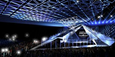 Как выглядит сцена для артистов Евровидения в Тель-Авиве