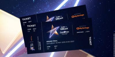 Как выглядят офицальные билеты на Евровидение в Тель-Авиве