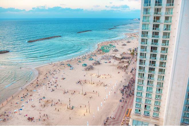 Пляже Хилтон в Тель-Авиве