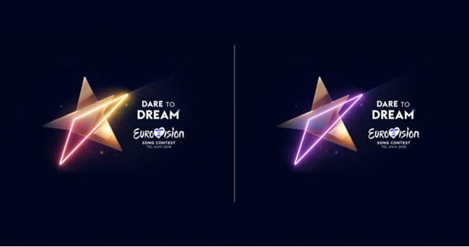 3 версии логотипа Eurovision 2019