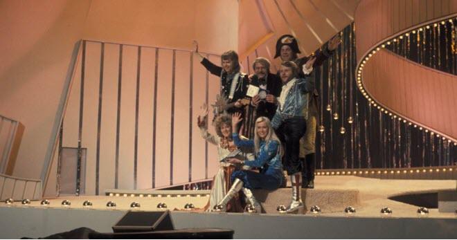 ABBA, после их знаменитой победы на Евровидении 1974 года в Швеции