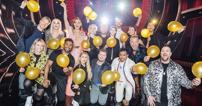 Джон Лундвик и все участники шведского национального отбора Евровидения 2019