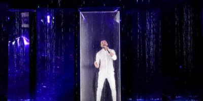 Как выглядит сцена с Сергеем Лазаревым на Евровидении 2019