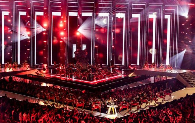 Светодиодная сцена на Евровидении 2019