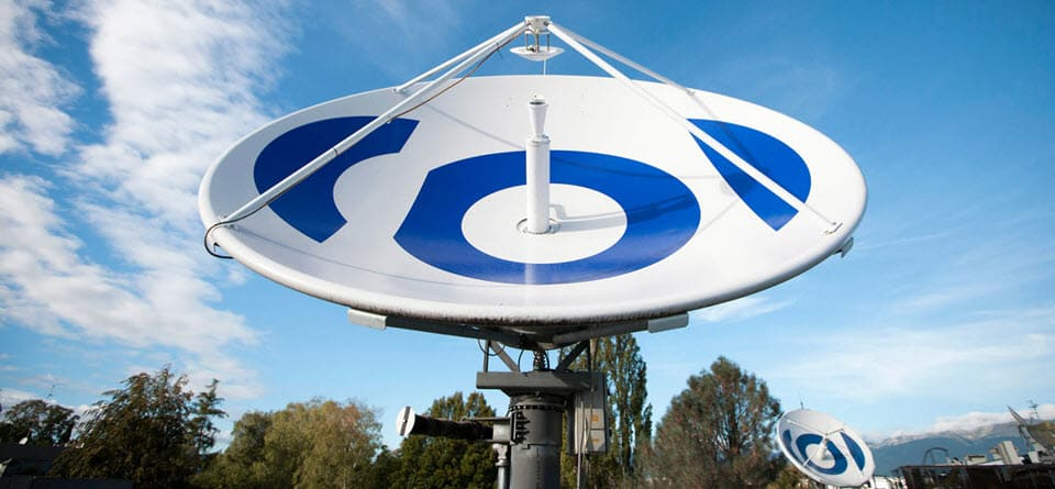 Спутниковая антенна в штаб-квартире EBU в Женеве