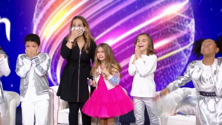 Момент объявления победителя Детского Евровидения 2020