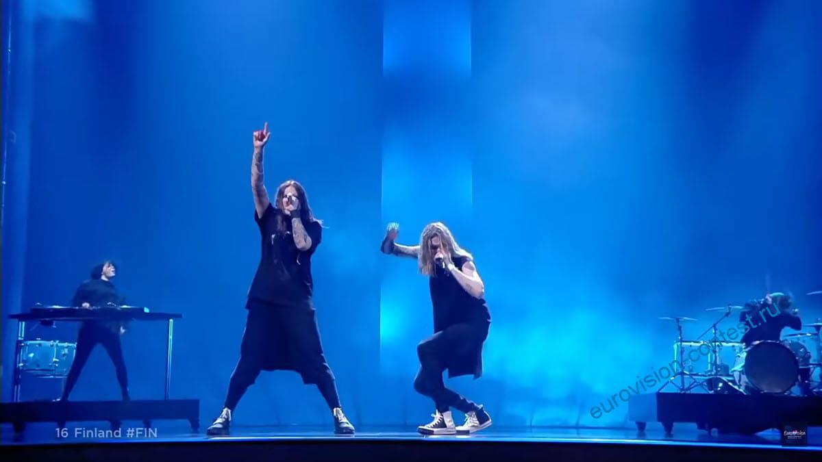 Выступление Blind Channel в финале Евровидения 2021 с песней Dark Side
