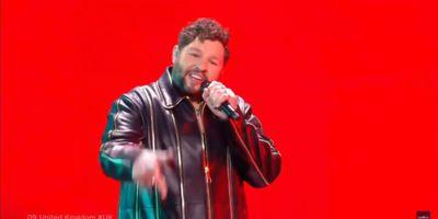 Выступление James Newman в финале Евровидения 2021 с песней Embers
