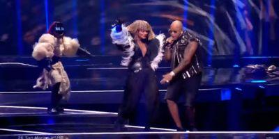 Выступление Senhit в финале Евровидения 2021 с песней Adrenalina