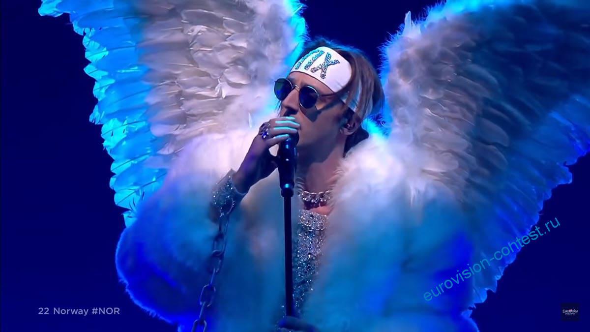Выступление TIX в финале Евровидения 2021 с песней Fallen Angel
