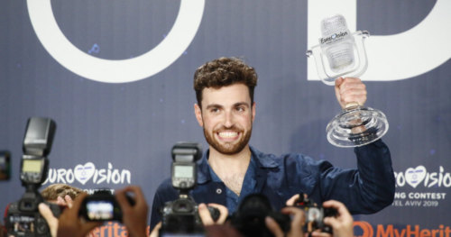 Duncan Laurence from the Netherlands at his winner's press conference