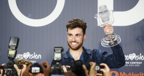 Duncan Laurence from the Netherlands at his winner's press conference 3