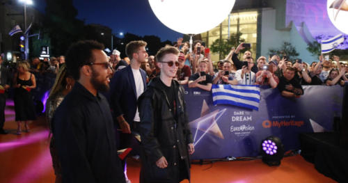 Eliot from Belgium arriving at the Orange Carpet