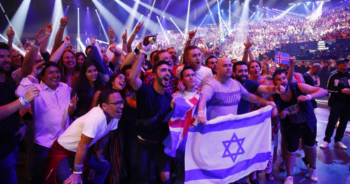Eurovision fans from Israel are having the time of their lives!