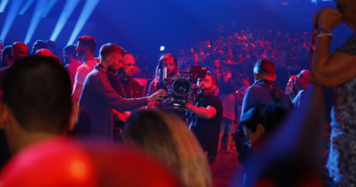 Fans go crazy during the first Semi-Final of Eurovision 2019