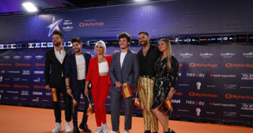 Mika from Spain enjoying the Orange Carpet