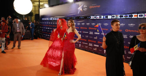 Moldova's Anna Odobescu on the Orange Carpet
