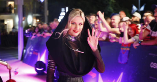 Nevena Božović (Serbia) arriving at the Orange Carpet
