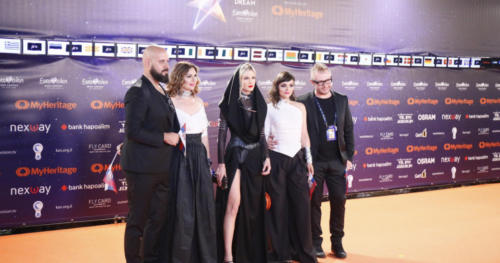 Nevena Božović (Serbia) arriving at the Orange Carpet 2