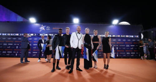 Serhat representing San Marino arrived at the Orange Carpet