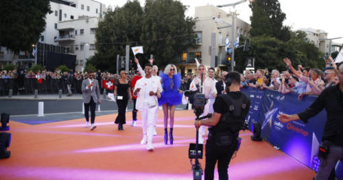 Tamta (Cyprus) arriving to the Orange Carpet
