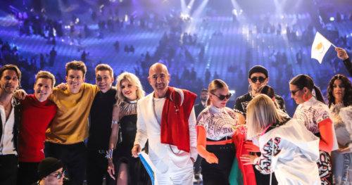 Winners on stage